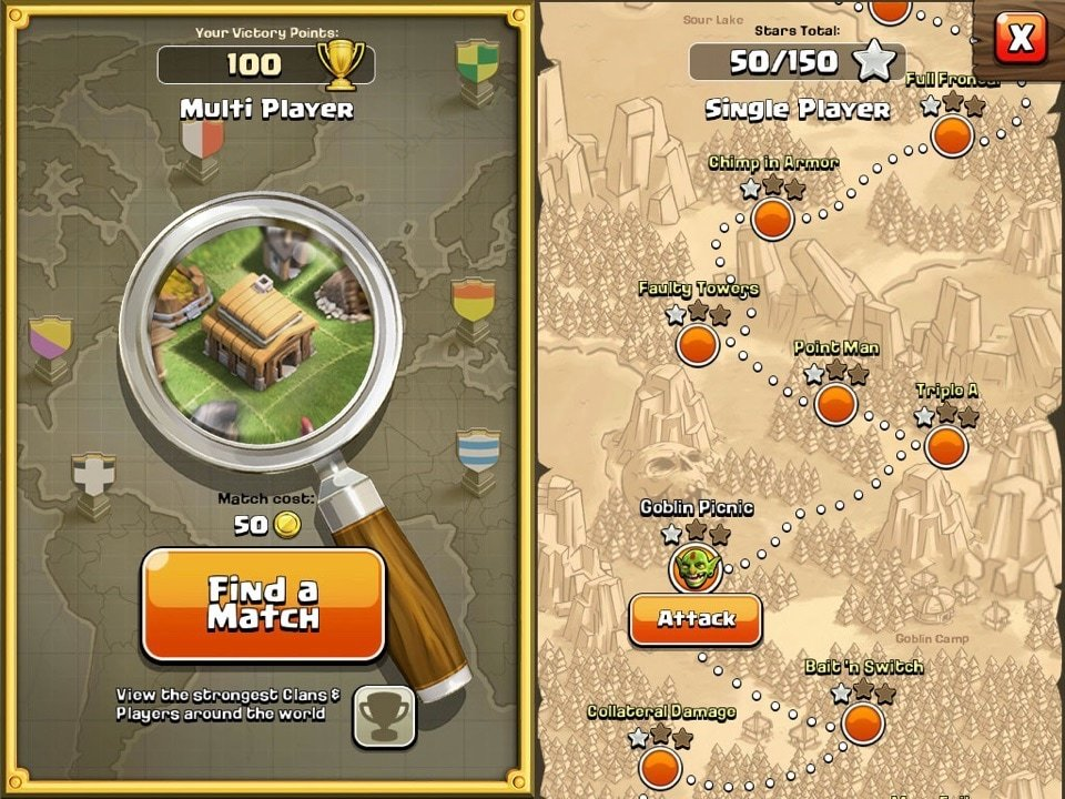 map clash of clans