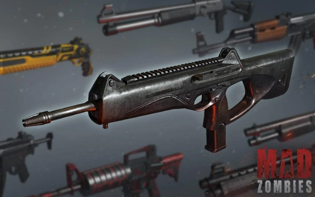 Mad Zombies weapons