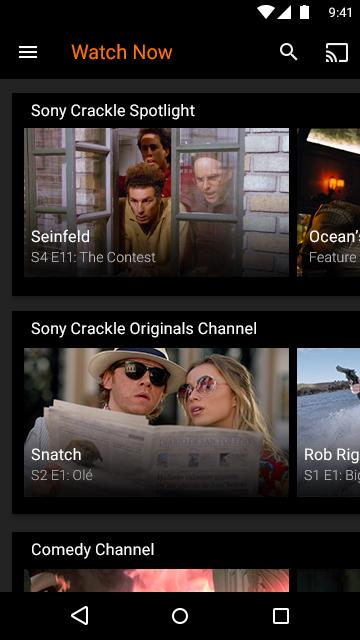 Giao diện crackle của Sony