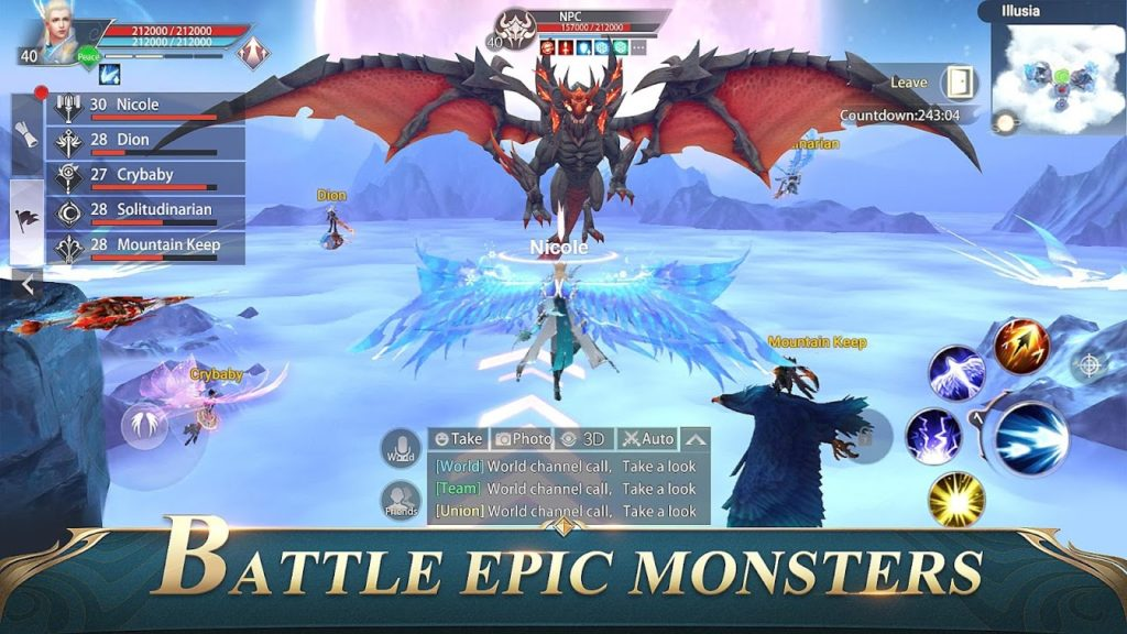 Perfect World Mobile Epic Battle