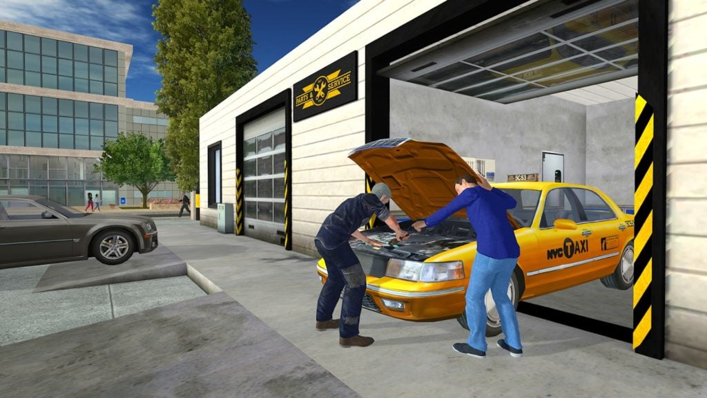 Taxi Game 2 garage 1024x576