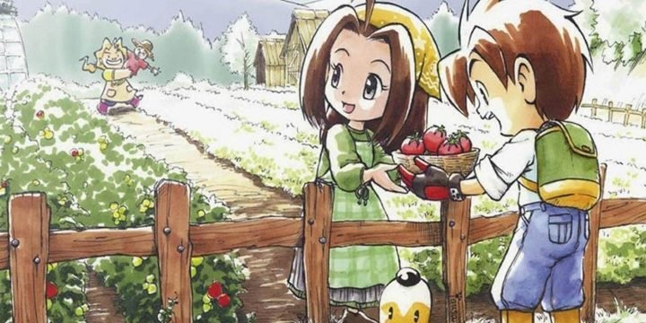Harvest Moon Friends of Mineral Town GBA ROM cover 720x360