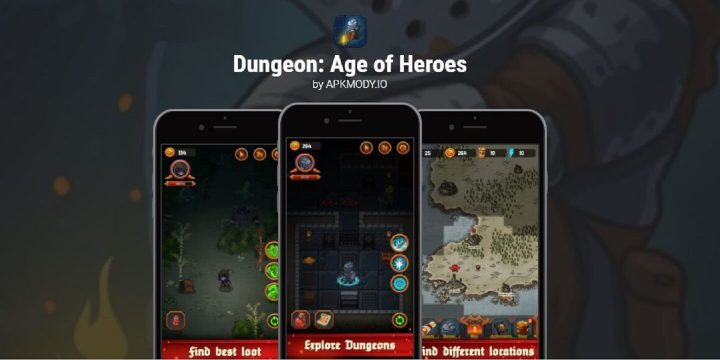 Dungeon Age of Heroes MOD APK cover