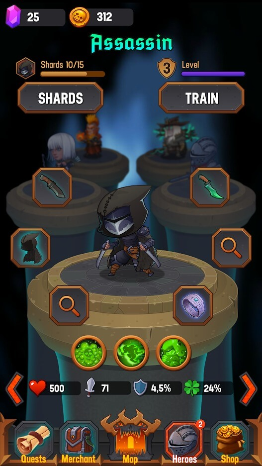 Dungeon Age of Heroes MOD by APKMODY