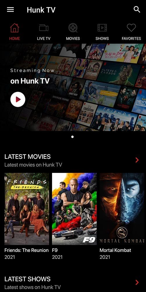 Hunk TV for Android