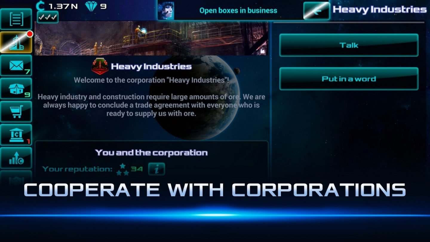 Idle Space Business Tycoon for Android 1440x810