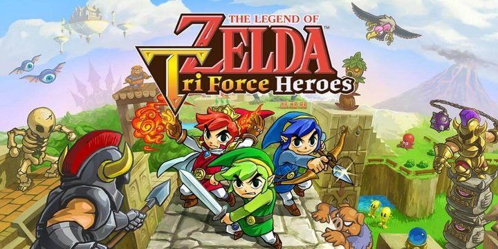 The Legend of Zelda Tri Force Heroes 3DS ROM cover 720x360