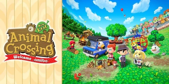 Animal Crossing New Leaf 3DS ROM cover