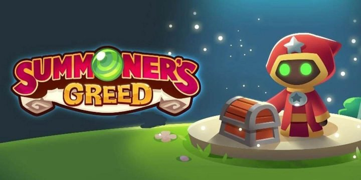 Summoners Greed MOD APK cover